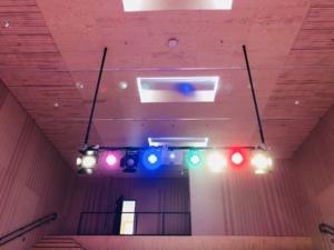 Auditorium Solberg skole med sceneteknikk