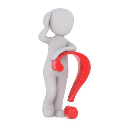 illustrasjon av person som lener seg på et spørsmålstegn